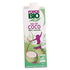 Force bio Eau de coco 100% naturelle 1l