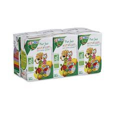 AUCHAN RIK & ROK Pur jus multifruits bio briquettes 6x20cl