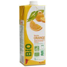 AUCHAN BIO Nectar d'orange à base de concentré brique 1l
