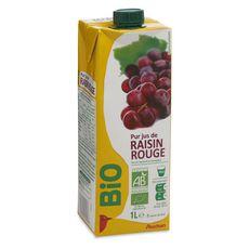 Auchan bio pur jus de raisin brique 1l