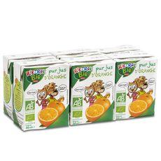 AUCHAN RIK & ROK Pur jus d'orange bio briquettes 6x20cl
