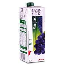 Auchan pur jus de raisin brique 1l