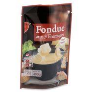 Auchan fondue aux 3 fromages 400g