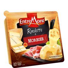 Entremont raclette duo nature et morbier 350g