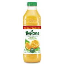 Tropicana Jus pure premium 100% orange avec pulpe 1,5l
