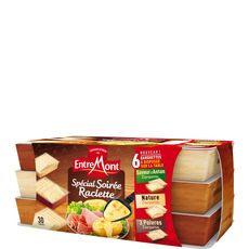 Entremont assortiment de 3 fromages à raclette x30 -660g