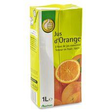 Auchan essentiels Jus d'orange à base de concentré brique 1l