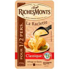 RichesMonts Fromage à raclette nature x10 250g