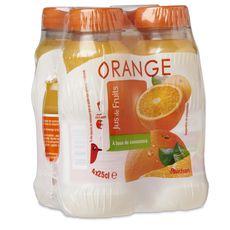 Auchan jus d'orange 4x25cl