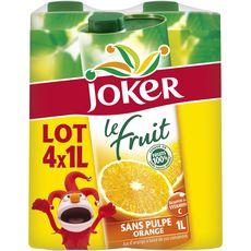 Joker le fruit orange brique lot de 4x1l