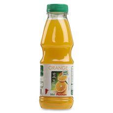 AUCHAN Pur jus d'orange sans pulpe bouteille 50cl