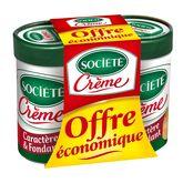 Société crème 2x100g offre éco