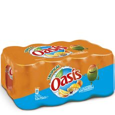 Oasis tropical canette 12x15cl