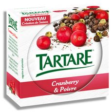 TARTARE Tartare fromage frais cranberry et poivre 150g
