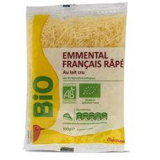 Auchan bio emmental râpé 100g