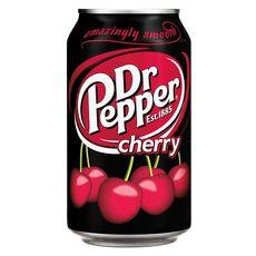 DR PEPPER Cherry boisson gazeuse au cola aromatisée cerise boîte 33cl
