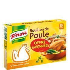 KNORR Bouillon de poule déshydraté 15 tablettes 150g