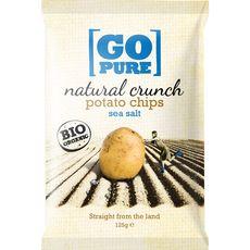 Go Pure chips sel bio 125g