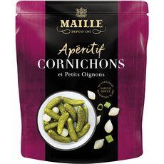MAILLE Maille apéritif cornichons petits oignons 100g