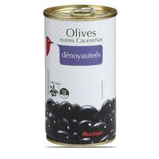 Auchan olives cacerenas noires dénoyautées 350g