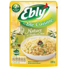 Ebly blé express précuit nature huile d'olive 2 minutes 220g