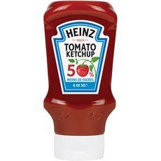 Heinz tomato ketchup -50% en sucre -50% en sel flacon 435g