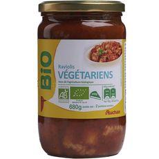 AUCHAN BIO Raviolis végétariens en bocal 2 personnes 680g
