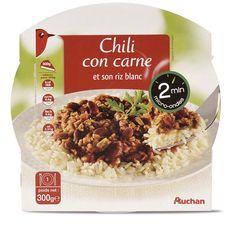 Auchan chili con carne barquette micro-ondable 300g