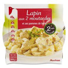 Auchan lapin deux moutardes micro ondable 300g