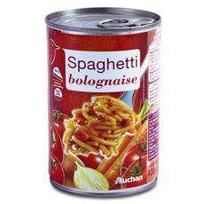Auchan spaghetti à la bolognaise 400g