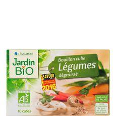 JARDIN BIO ETIC Jardin Bio Bouillon cube de légumes dégraissé sans huile de palme 8x10g 8x10g