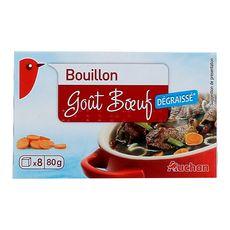 AUCHAN Bouillon de bœuf 8 tablettes 80g