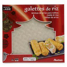 Auchan Galettes de riz 100g