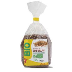 Auchan Mieux Vivre bio graines de lin brun 250g
