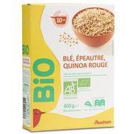 Auchan bio mélange blé épeautre quinoa rouge vrac 400g
