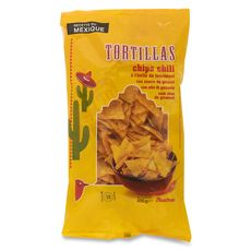 Auchan tortillas chips huile de tournesol chili 400g
