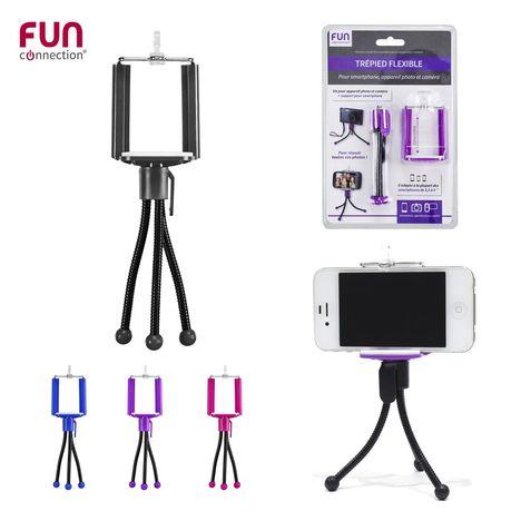 FUN CONNECTION Trépieds flexible pour smartphone - HT1130