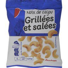 Auchan noix de cajou grillées et salées 125g