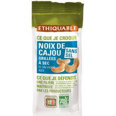 ETHIQUABLE Noix de cajou bio grillées à sec sans sel 100g