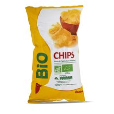 Auchan bio chips nature à l'huile de tournesol 125g