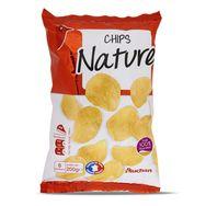 Auchan chips nature à l'huile de tournesol 200g
