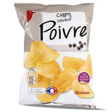 Auchan chips au poivre 135g