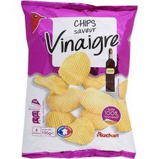 Auchan chips craquante vinaigre 135g