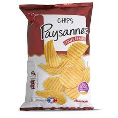 Auchan chips paysannes huile de tournesol 150g