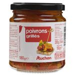 Auchan poivrons grillés à l'huile de tournesol 285g