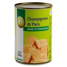AUCHAN ESSENTIEL Auchan Essentiel Champignons de Paris pieds et morceaux 230g 230g