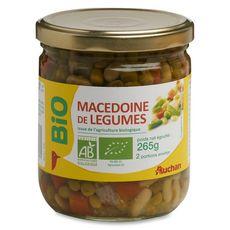 AUCHAN BIO Macédoine de légumes, en bocal 265g