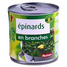 Auchan Epinards en branches 380g