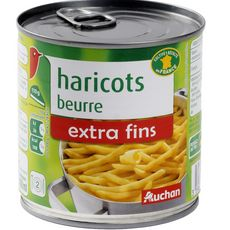 AUCHAN Haricots beurre extra fins 220g