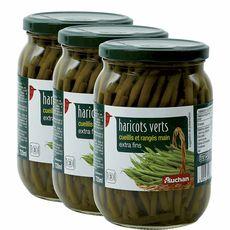 AUCHAN Auchan Haricots verts extra fins cueillis et rangés main 3x345g 3x345g